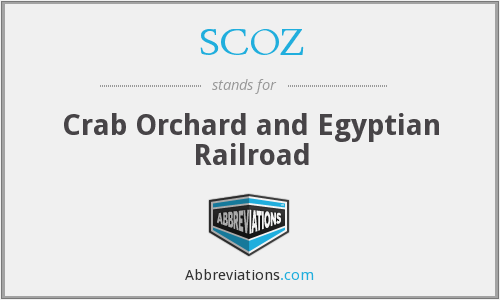 SCOZ - Crab Orchard and Egyptian Railroad