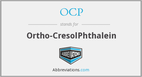 OCP - Ortho-CresolPhthalein