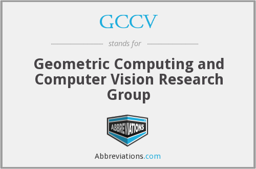 GCCV - Geometric Computing and Computer Vision Research Group