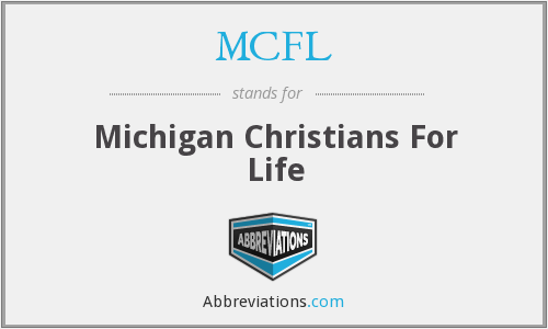 MCFL - Michigan Christians For Life