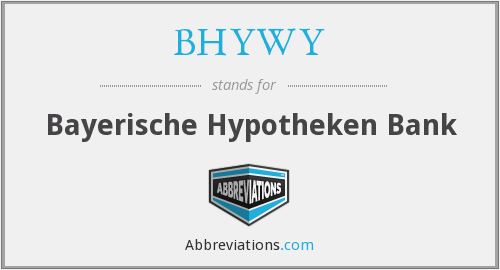 What does BHYWY stand for?