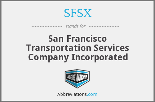 What does SFSX stand for?