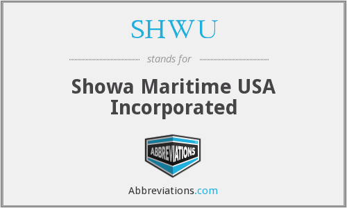 What does SHWU stand for?