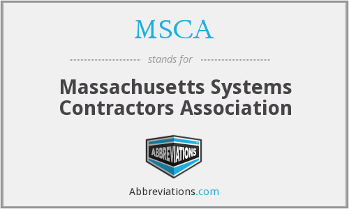MSCA - Massachusetts Systems Contractors Association
