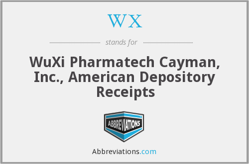 WX - WuXi Pharmatech Cayman, Inc., American Depository Receipts