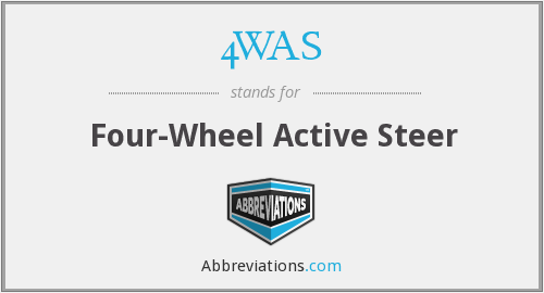 4WAS - Four-Wheel Active Steer