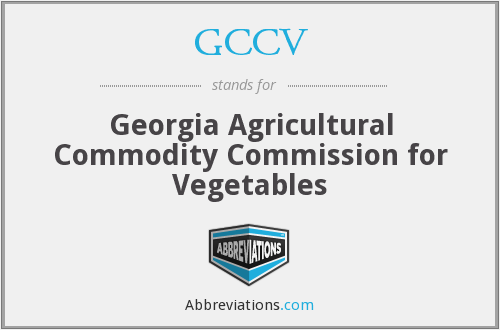 GCCV - Georgia Agricultural Commodity Commission for Vegetables