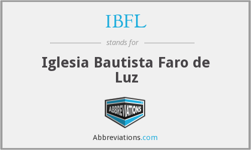 IBFL - Iglesia Bautista Faro de Luz