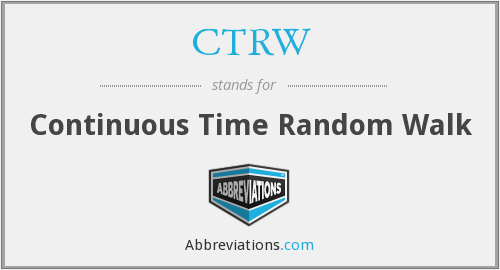 CTRW - Continuous Time Random Walk