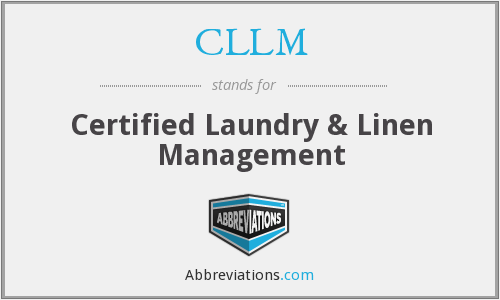 CLLM - Certified Laundry & Linen Management