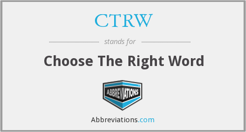 CTRW - Choose The Right Word
