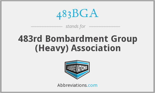 483BGA - 483rd Bombardment Group (Heavy) Association