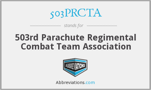 503PRCTA - 503rd Parachute Regimental Combat Team Association