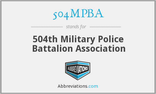What does 504MPBA stand for?