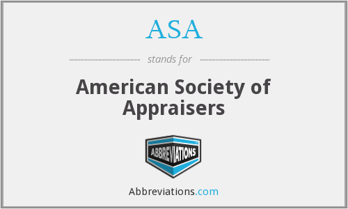 ASA - American Society of Appraisers