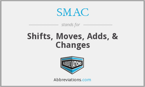 SMAC - Shifts, Moves, Adds, & Changes