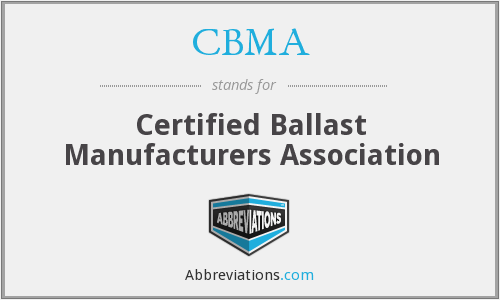 CBMA - Certified Ballast Manufacturers Association