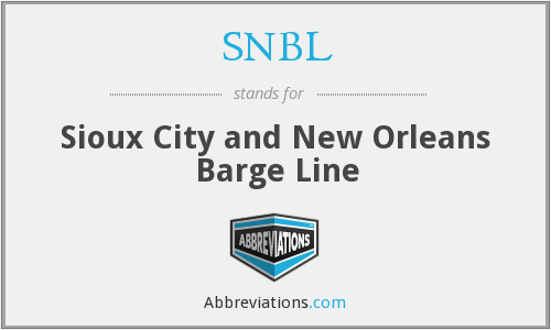 SNBL - Sioux City and New Orleans Barge Line