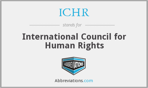 What does ICHR stand for?