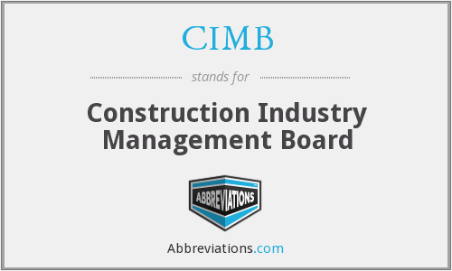 CIMB - Construction Industry Management Board