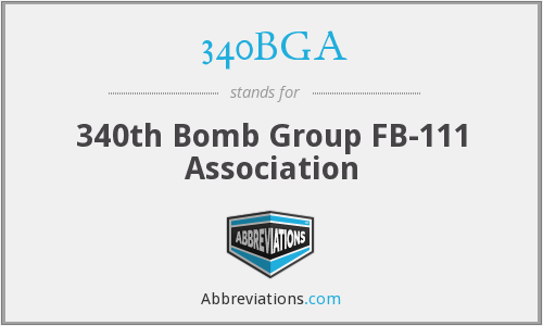 340BGA - 340th Bomb Group FB-111 Association