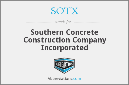 What does SOTX stand for?