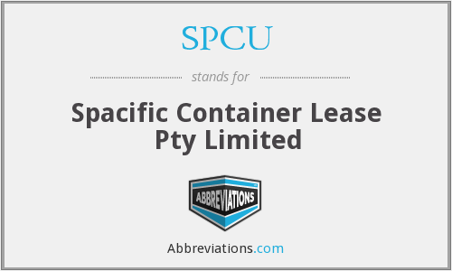 What does SPCU stand for?