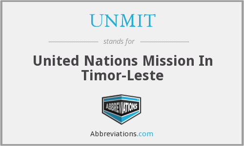 UNMIT - United Nations Mission In Timor-Leste