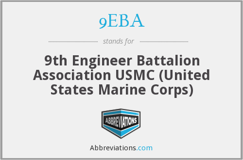 9EBA - 9th Engineer Battalion Association USMC (United States Marine Corps)