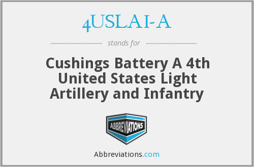 4USLAI-A - Cushings Battery A 4th United States Light Artillery and Infantry