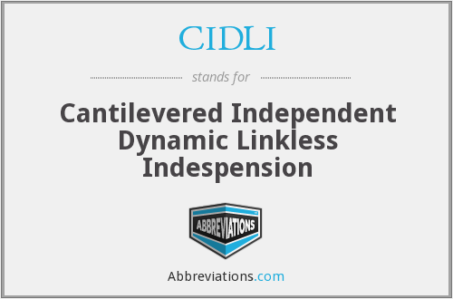CIDLI - Cantilevered Independent Dynamic Linkless Indespension
