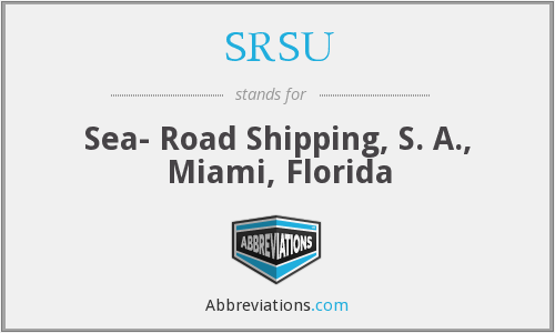 What does SRSU stand for?