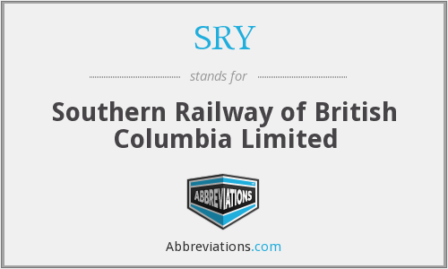 SRY - Southern Railway of British Columbia Limited