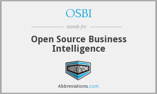 OSBI - Open Source Business Intelligence