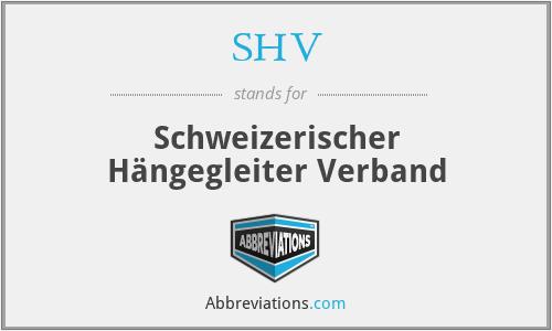 SHV - Schweizerischer Hängegleiter Verband