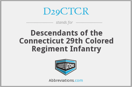 D29CTCR - Descendants of the Connecticut 29th Colored Regiment Infantry