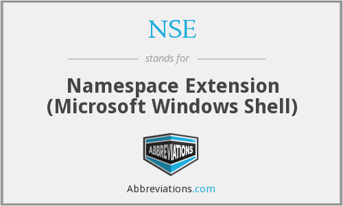 NSE - Namespace Extension (Microsoft Windows Shell)