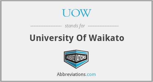 UOW - University Of Waikato