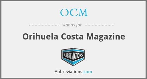 OCM - Orihuela Costa Magazine