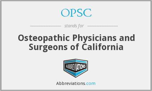 OPSC - Osteopathic Physicians and Surgeons of California
