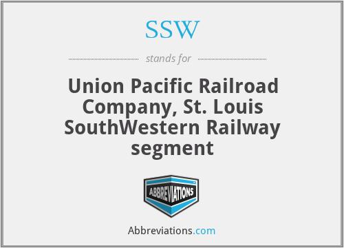 SSW - Union Pacific Railroad Company, St. Louis SouthWestern Railway segment