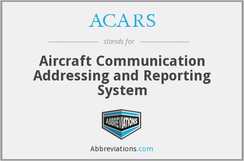 ACARS - Aircraft Communication Addressing and Reporting System