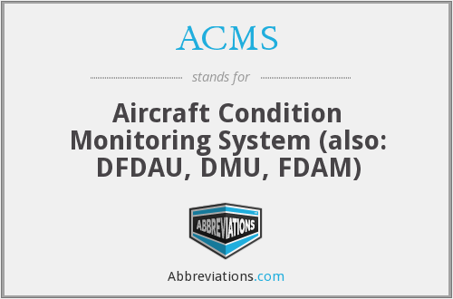 ACMS - Aircraft Condition Monitoring System (also: DFDAU, DMU, FDAM)
