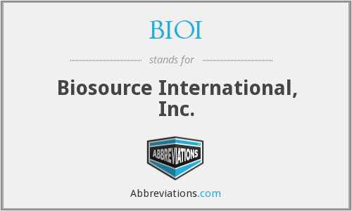 What does BIOI stand for?