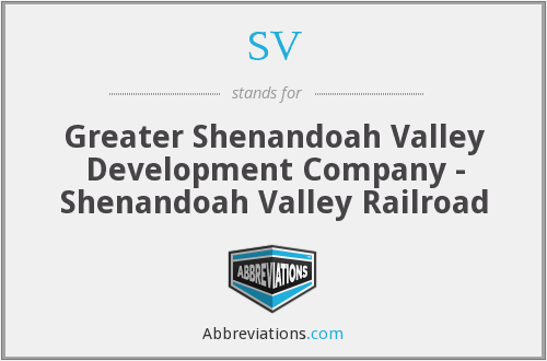 SV - Greater Shenandoah Valley Development Company - Shenandoah Valley Railroad