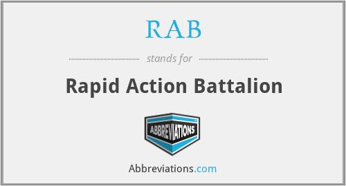 RAB - Rapid Action Battalion