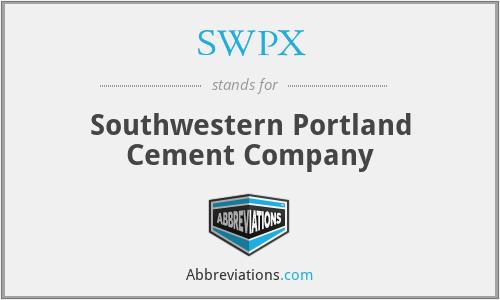 SWPX - Southwestern Portland Cement Company