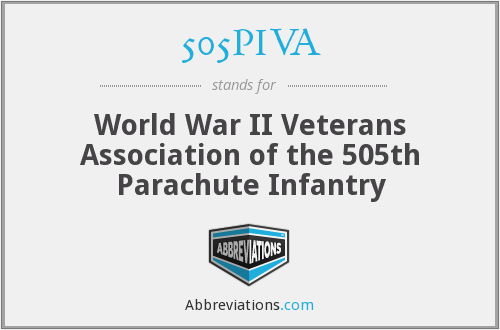 505PIVA - World War II Veterans Association of the 505th Parachute Infantry
