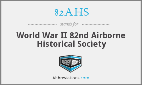 82AHS - World War II 82nd Airborne Historical Society