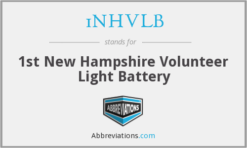 1NHVLB - 1st New Hampshire Volunteer Light Battery